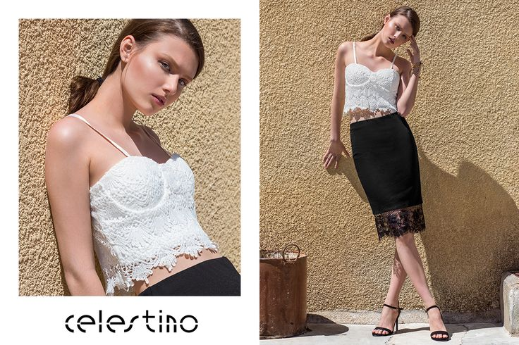 Today we chose your favorite lace pencil skirt with the best-selling crop top of the month! #ootd #Celestino #lace #pencilskirt #skirt #hotgirl #fashion #style #croptop #beautiful