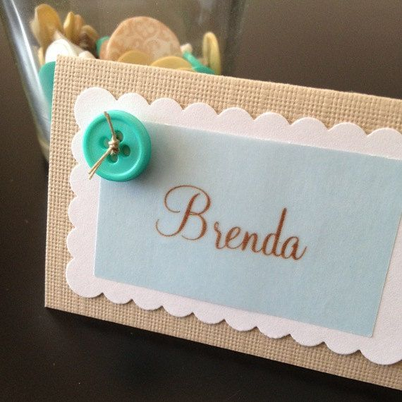 Cute as a Button - Place Cards