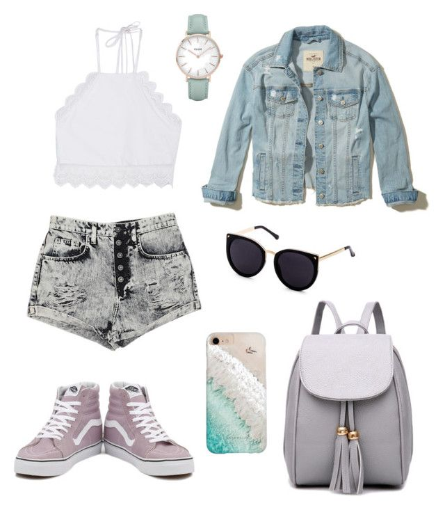 """Sin título #8"" by saez-javita on Polyvore featuring moda, Front Row Shop, Hollister Co., Carmar, Vans, Gray Malin y CLUSE"