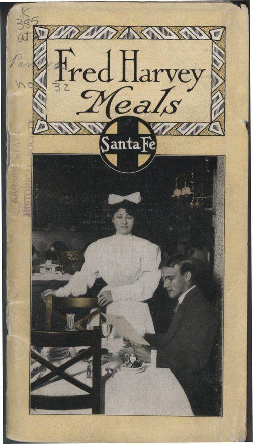 Harvey House restaurants located along the Santa Fe Railroad route