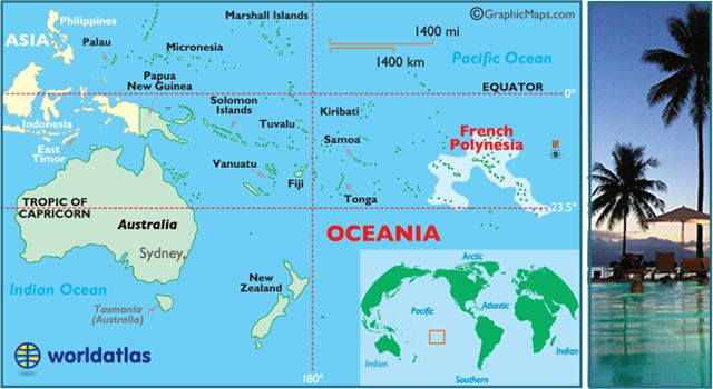 French Polynesia Map / Geography of French Polynesia / Map of French Polynesia…