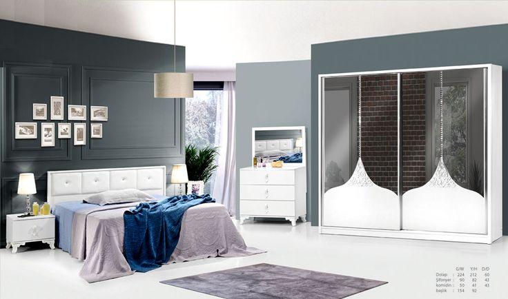Roza Yatak Odası | Modern Yatak Odaları | Yatak Odası Modelleri
