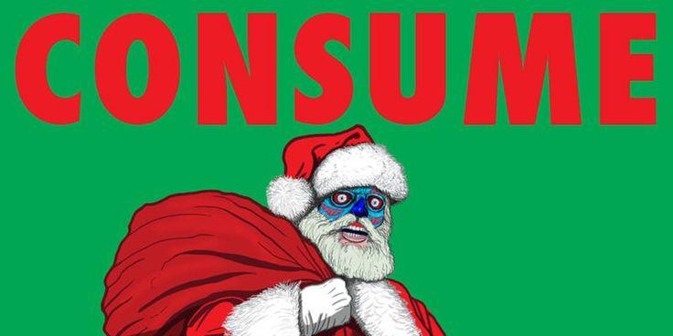 Los Leute! Das letzte Sonntagsshopping vor Weihnachten! Konsumiert! Schlaft weiter! Seht fern! Gehorcht! Stellt keine Autoritäten in Frage! Unterwerft euch! Geld ist euer Gott! (via Consume Popculture)