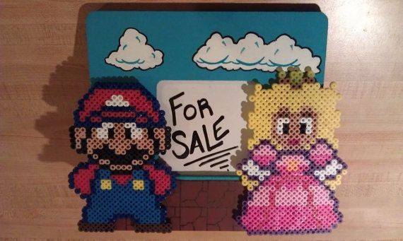Mario Princess Peach Picture Frame by ValeriasMarvels on Etsy, $20.00 ONE OF A KIND!