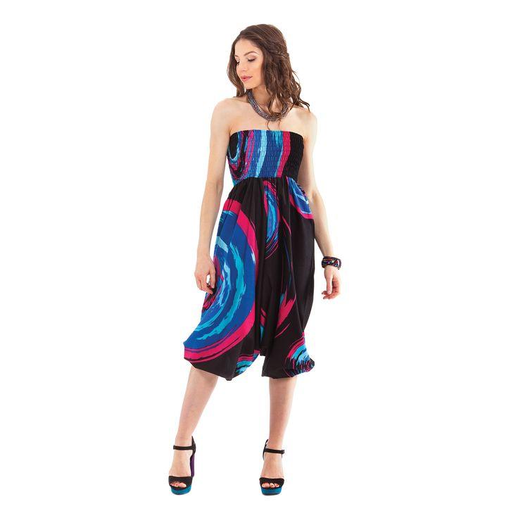 Ce Sarouel pour femme Noir 3en1 Original et Coloré Magik   est fantaisie et pas cher. Seulement à 32.90€sur www.akoustik-online.com.