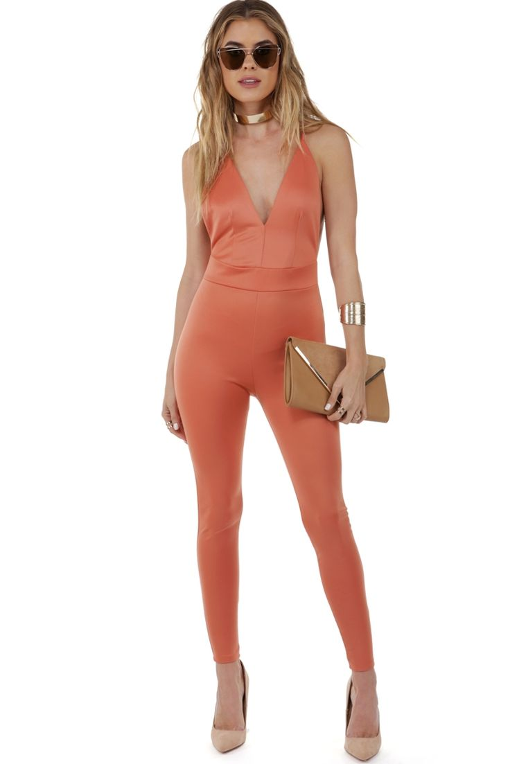 Final Sale- Coral Brighter Days Jumpsuit