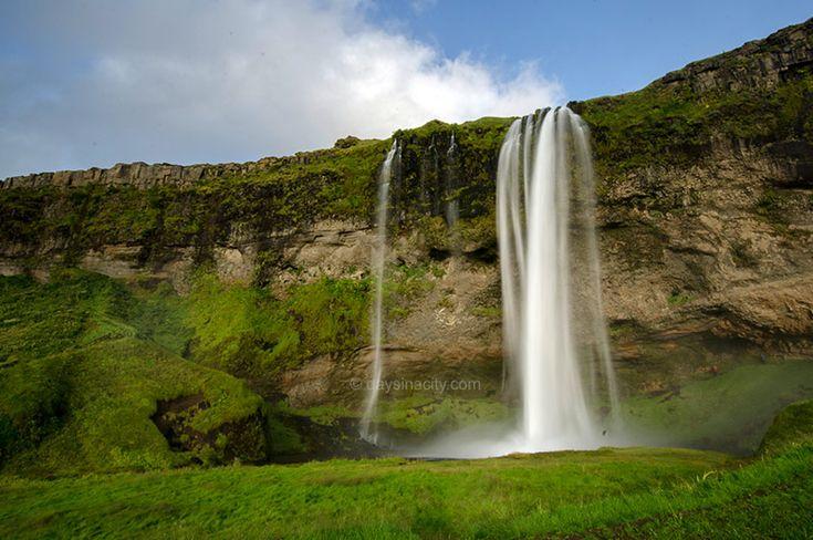 Seljalandsfoss waterfall on Iceland's south coast