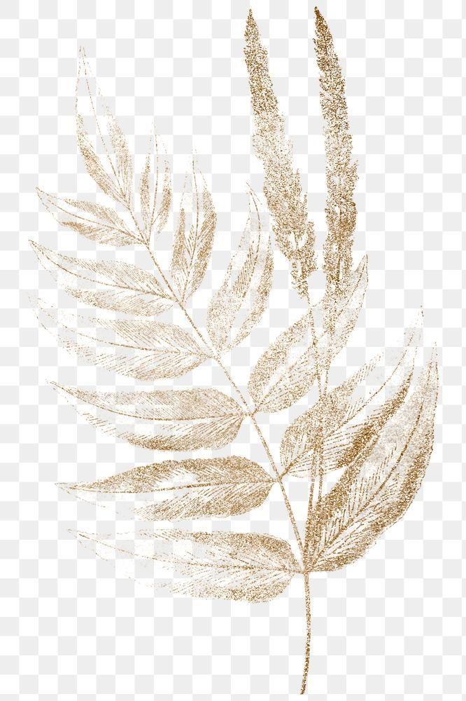 Golden Fern Leaves Design Element Free Image By Rawpixel Com Adj Flower Graphic Design Watercolour Texture Background Flower Background Wallpaper