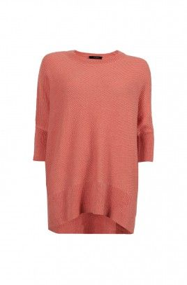 Dancy Textrured Knit -CORAL-S/M