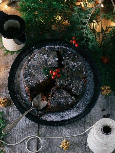 Christmas Pudding swimming in Caramel Sauce! | Paleo-ish
