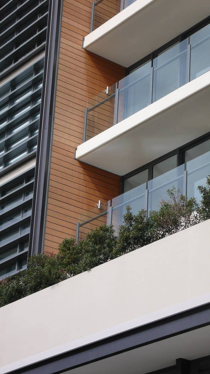 Sahara; building facade built by the beach #ModWood #Screen