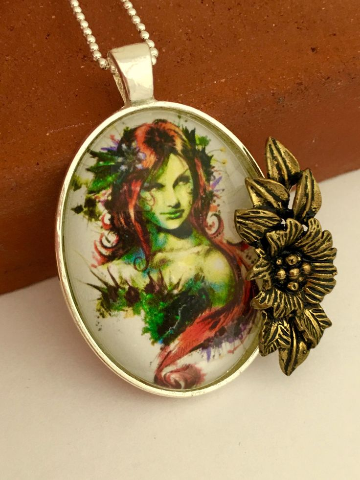 Poison Ivy Inspired Necklace / Pendant