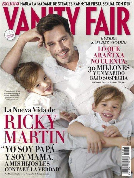 Ricky Martin and his adorable twin boys in Vanity Fair Spain! http://eonli.ne/GQMiUX