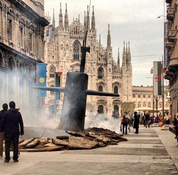 Un sottomarino a milano