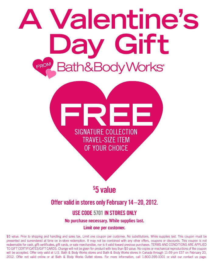 Free Signature collection Travel size Item of your choice Bath & Body Works