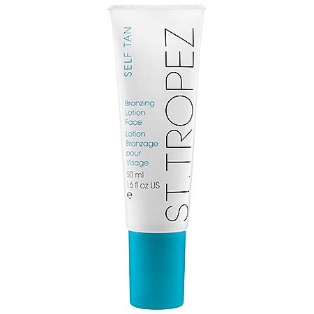 St. Tropez Bronzing Lotion for the face http://beautyeditor.ca/2013/07/25/celebrity-skin-finisher-fiona-locke-on-perfecting-your-skin-with-self-tanner-even-if-you-hate-looking-tanned/