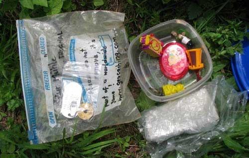 Geocashing - treasure box