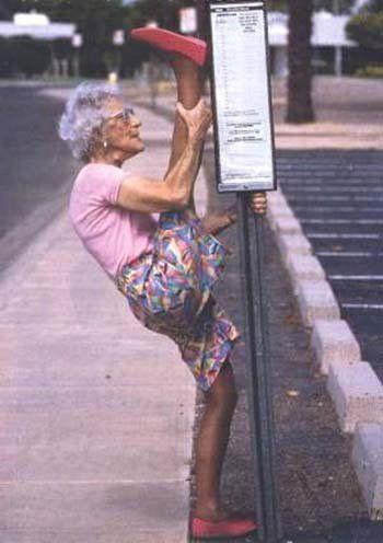 I wanna be like this old lady!!!! lol jk
