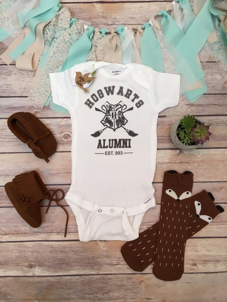 Hogwarts Onesie®, Harry Potter Onesie, Harry Potter Baby Clothes, Baby Shower Gift, Funny Onesies, Quidditch Onesie, Unisex Baby Clothes, Hogwarts Alumni Shirt