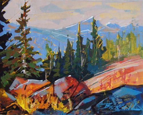 """""""Strathcona Nov Sketch I"""" - Original Fine Art for Sale - © Brian Buckrell"""