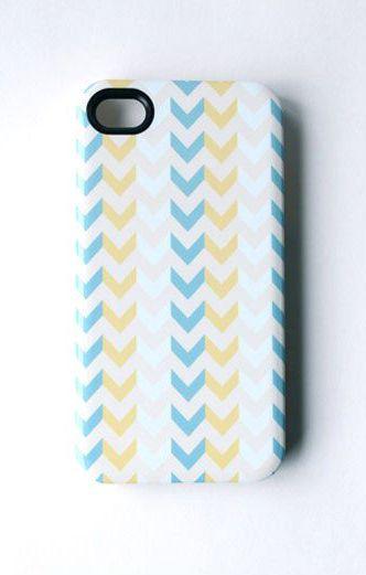 SALE Chevron iPhone Case Hard Case Arrows Aqua by allisajacobs