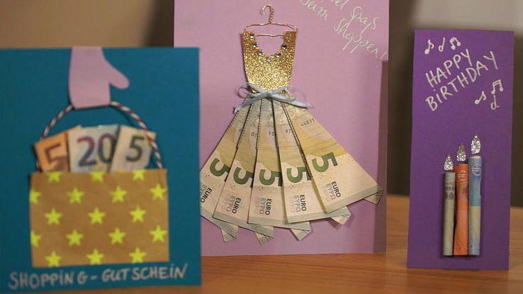 Ob Hochzeit oder Geburtstag: Geldgeschenke sind immer beliebt. Aber einfach nur im langweiligen Briefumschlag? Das geht besser: Geldgeschenke originell verpacken – so geht's!
