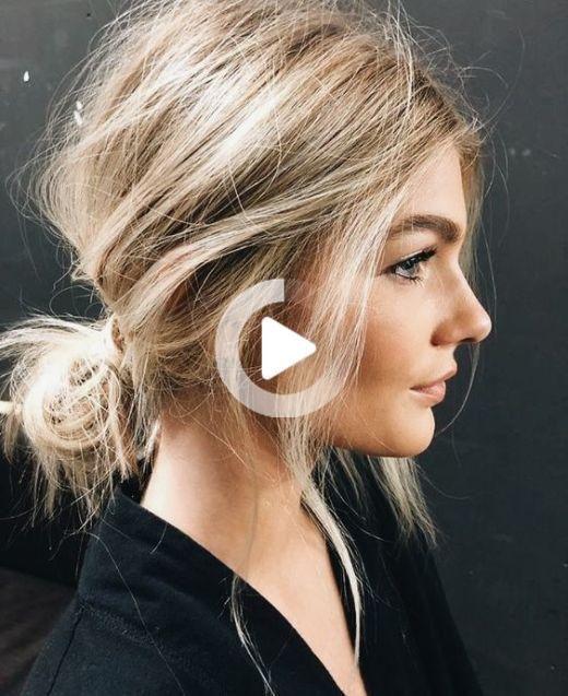 5 Einfache Frisuren Fur Leute Die Sind Schrecklich Mit Dem Haar In 2020 Glatte Frisuren Unordentliche Frisur Ausgefallene Frisuren