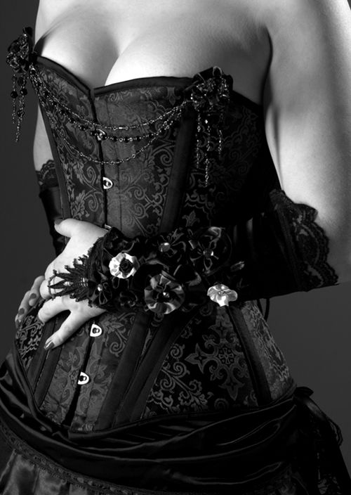corset and glove