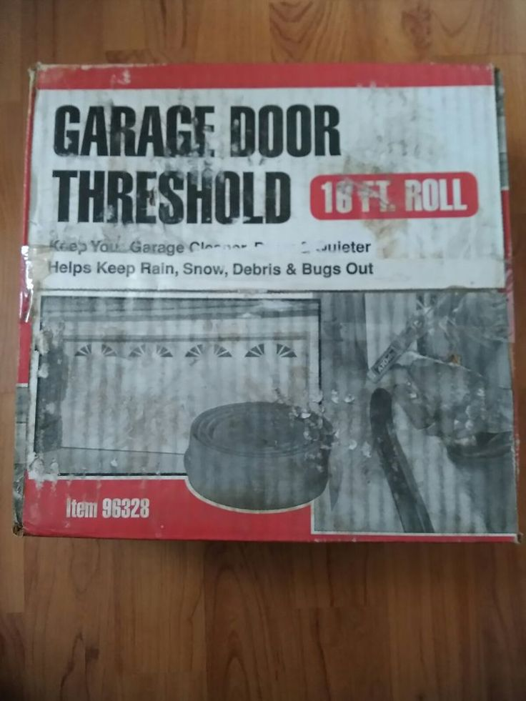 16Ft Roll Garage Door Weather Threshold Bottom Seal Durable & Flexible #garagedoor #threshold #winterize #rubber