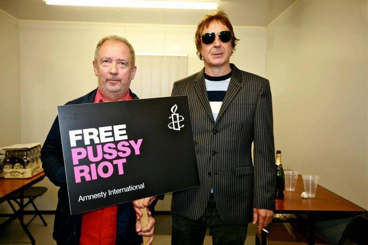 Take action with The Buzzcocks and a hundred other artists co-signing a petition calling for their release:  www.amnesty.org/freepussyriot