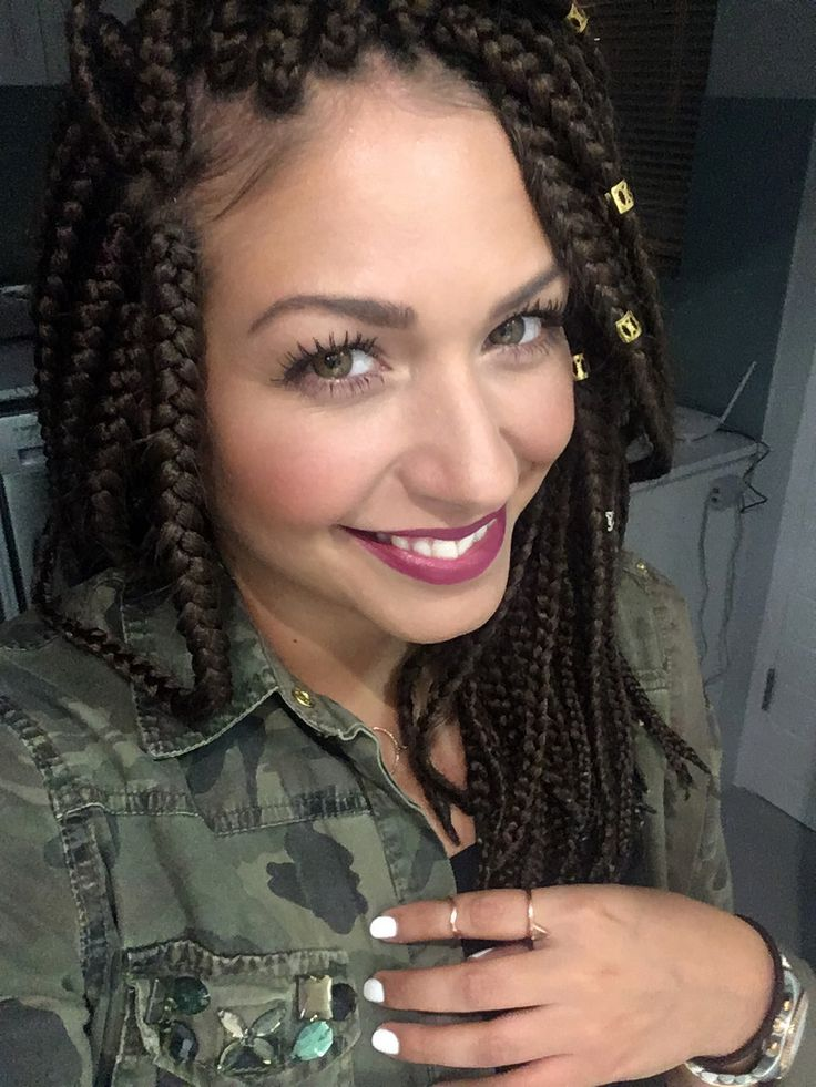 White girl with box braids #boxbraids #longbob #whitegirl #latina More