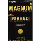 Condoms and Contraceptives: Case Trojan Magnum Premium Ribbed Large Condoms Lubricated Latex BUY IT NOW ONLY: $125.0
