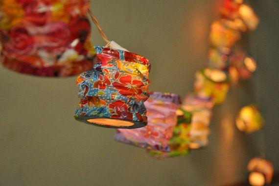 Japanischer Stil Maulbeerbaum Papier Laternen für die Hochzeit-Party-Dekoration (20 Zwiebeln)
