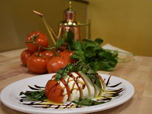 Mozzarella Caprice appetizer at the new Napoli Wood Fired Pizza & Bakery in Cliffside Park