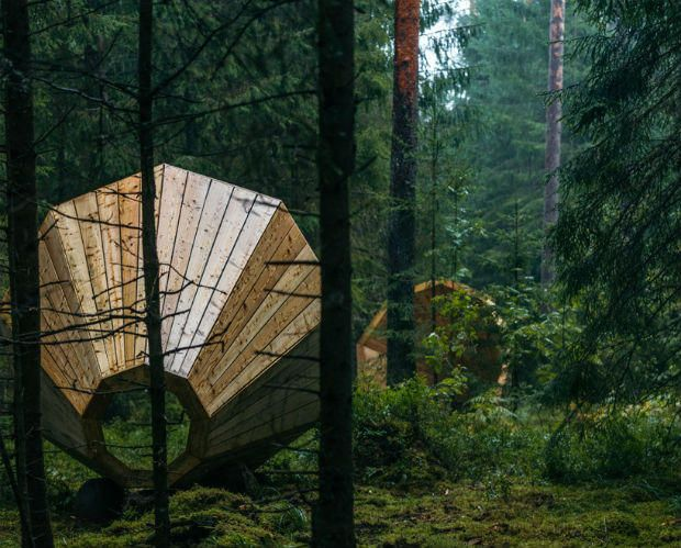 If you would like to do some meditating or relaxing, a forest clearing is a good place to go. A group of students in Estonia took that idea and amplified it, literally.