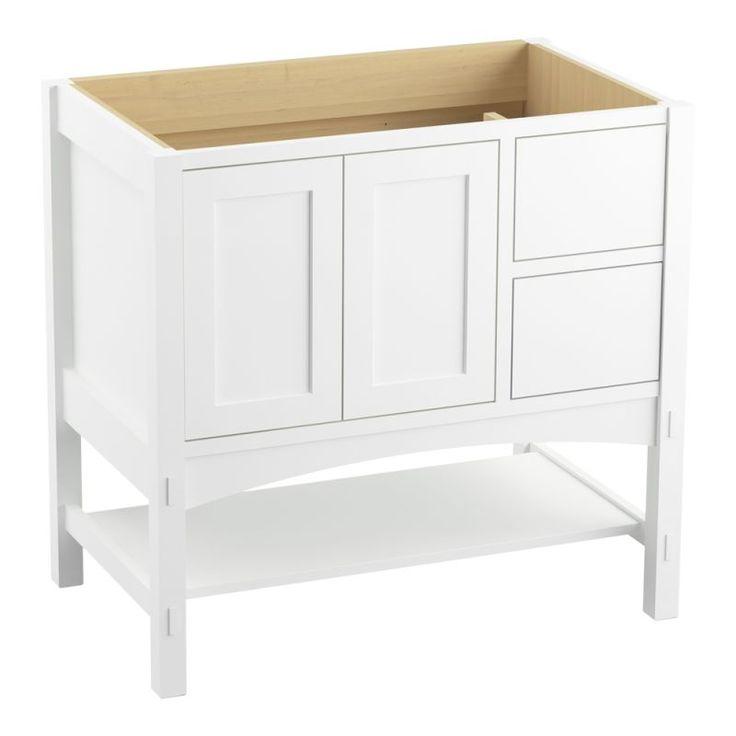 """Kohler K-99556-R Marabou 36"""" Vanity Cabinet Only - Free Standing Installation Ty Linen White Fixture Vanity Single"""