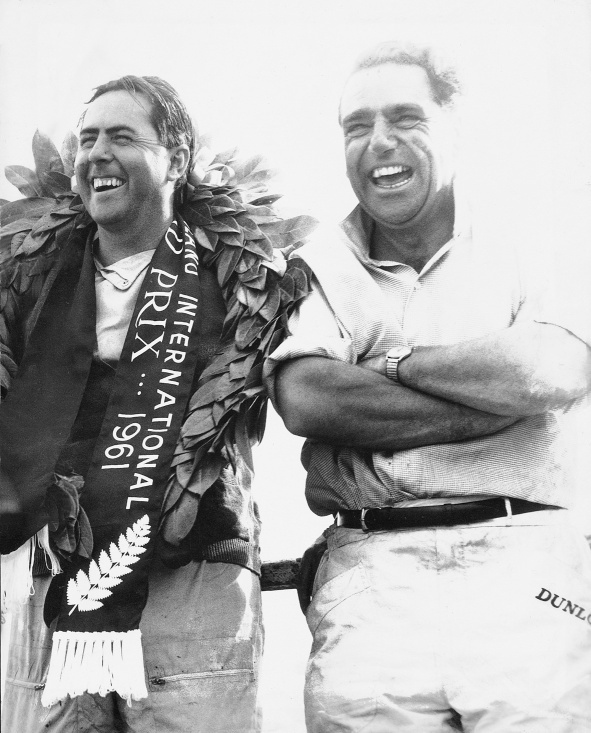 Jack Brabham and John Cooper