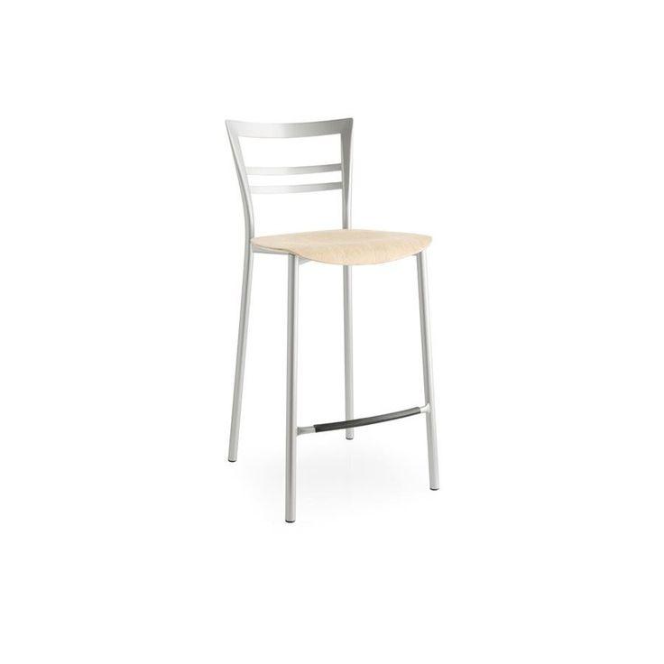 Sgabello sedile intercambiabile Connubia Calligaris Go! CB/1689 -  La struttura in metallo e seduta in legno, dal design classico ed elegante.