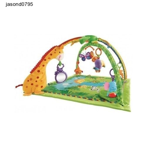 Baby Play Mat Music lights Fisher-Price Rainforest Fun Sounds Games Learning