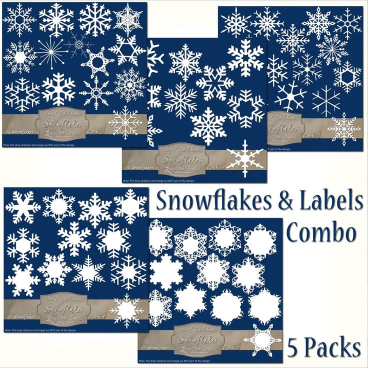 Total of 63 Frosty Snowflake Overlays & Labels - Super Combo Pack $19.50 #snowflakes, #white, #winter, #labels, #tags, #embellishment, #scrapbooking