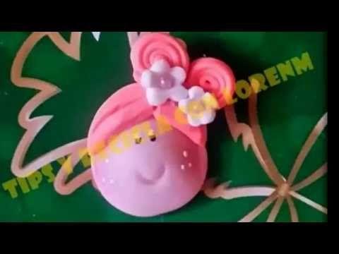 Como Hacer caritas en porcelanicron con molde Sarita ,#028 la hormiga - YouTube