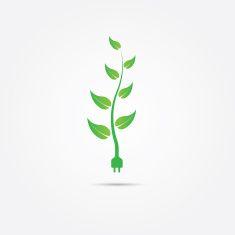 Green Energy vector art illustration
