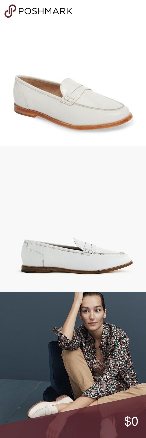 J. Crew Academy Loafers in White Leather | Loafers, Vans ...