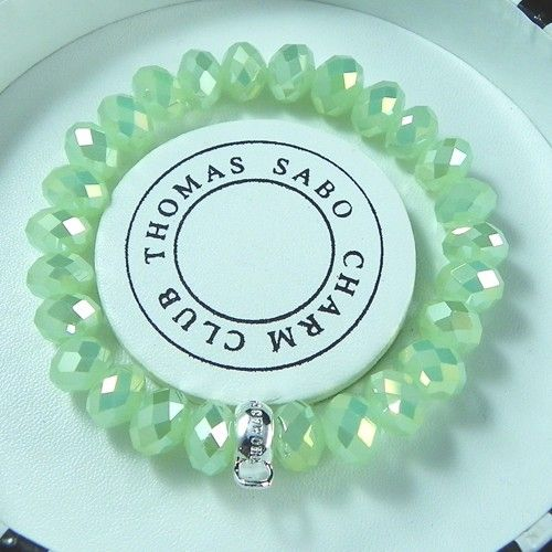 Thomas Sabo Bracelets Cheap Reconstructed Crystal Stretch Bracelet Light Green