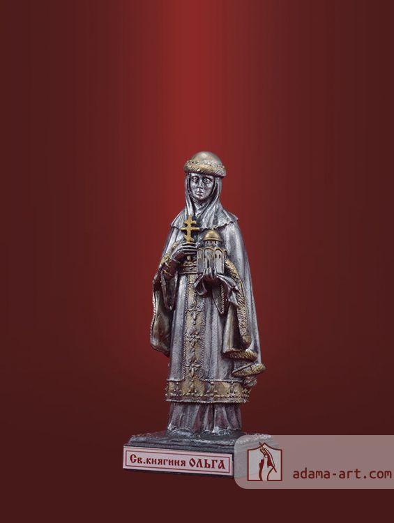 Св. княгиня Ольга (054t) Чернёное олово Высота статуэтки: 75мм Скульптор: Наталья Алексеева
