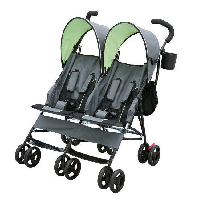 Stroller For Twins Two Kids Double Baby Buggy Light Folding Canopy Storage Bags #twinstroller #doublestroller #twosearstroller #twinbuggy