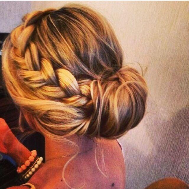 Bridesmaid or to go to a wedding hair