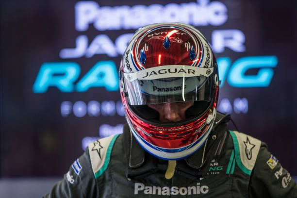 In this handout image supplied by Formula E Adam Carroll of Great Britain and Panasonic Jaguar Racing during the Mexico City ePrix fourth round of...
