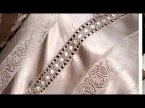 راندة خفيفة نصف طوق بالكرميط و الطرز على الراندة شكل راقي Randa 2020 Youtube Diamond Bracelet Chain Necklace Diamond