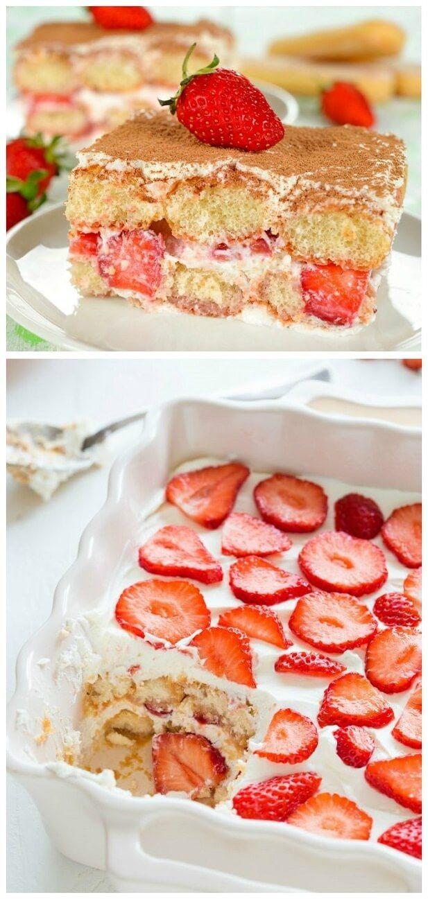Strawberry Tiramisu   Tasty Food Collection